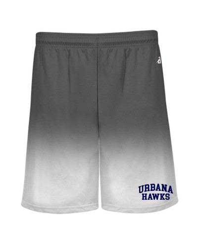 UHS Urbana Hawks Performance Badger Ombre SHORTS Navy or Graphite Available Sz S-4XL GRAPHITE