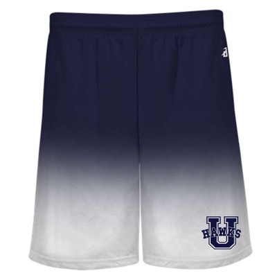 UHS Urbana Hawks Performance Badger Ombre  SHORTS   Navy or Graphite Available  Sz S-4XL  NAVY