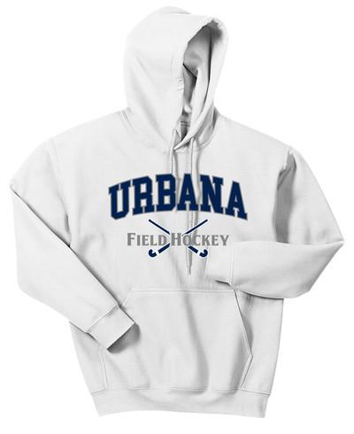 Urbana FIELD HOCKEY Cotton Hoodie Sweatshirt Sticks Crossed Many Colors Available SZ S-3XL WHITE