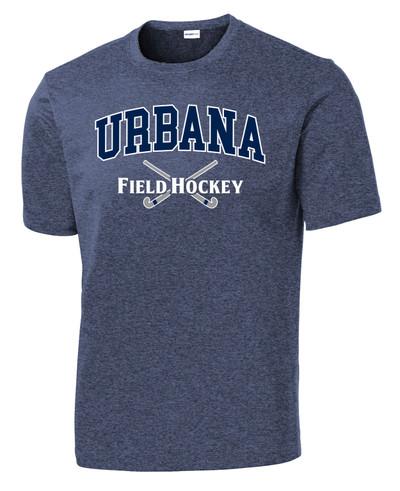 Urbana Hawks FIELD HOCKEY T-shirt Performance Posi Charge Competitor Many Colors Available SZ XS-4XL NAVY HEATHER