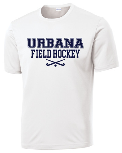 Urbana Hawks FIELD HOCKEY T-shirt Performance Posi Charge Competitor Many Colors Available SZ XS-4XL WHITE
