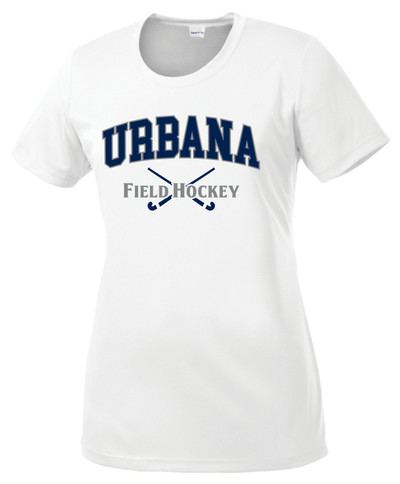 Urbana FIELD HOCKEY T-shirt Performance Posi Charge Competitor Many Colors Available LADIES SZ XS-4XL WHITE
