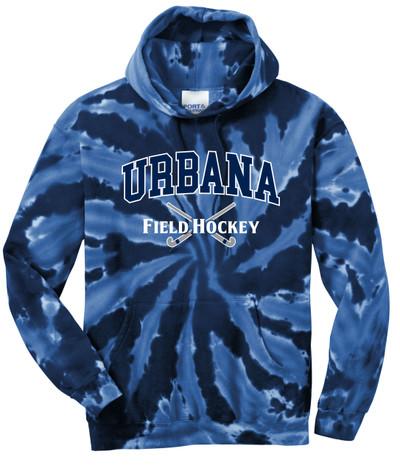 Urbana FIELD HOCKEY Sticks Cotton Hoodie Sweatshirt Tie Dyed Navy Spiral SZ S-3XL