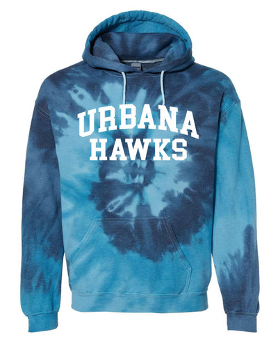 Urbana FIELD HOCKEY Cotton Hoodie Sweatshirt Sticks Tie Dyed BLUE TIDE Spiral SZ S-3XL