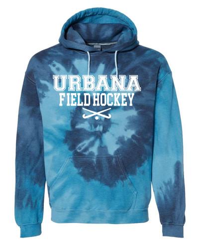 SCREEN URBUrbana FIELD HOCKEY Cotton Hoodie Sweatshirt Sticks Tie Dyed BLUE TIDE Spiral SZ S-3XLANA FH STICKS
