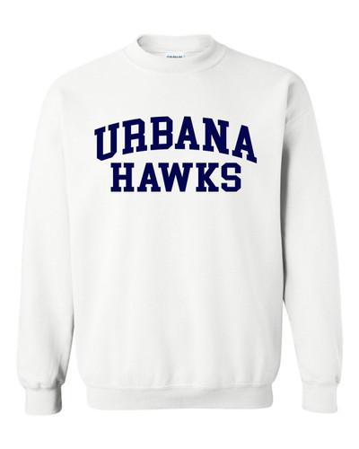 Urbana FIELD HOCKEY Cotton Crewneck Sweatshirt Sticks Many Colors Available YOUTH Size S-XL  WHITE