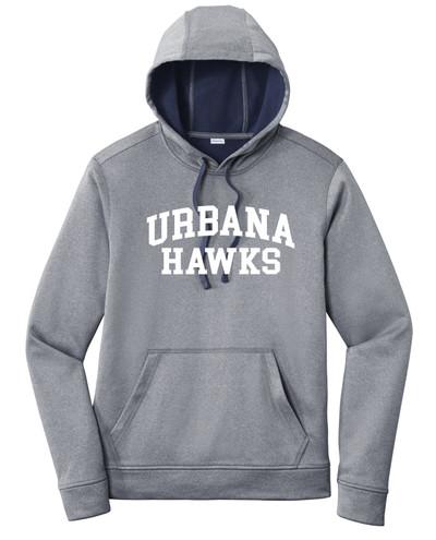 Urbana FIELD HOCKEY Hooded Performance PosiCharge Heather Fleece Pullover Sweatshirt Many Colors Available SZ XS-4XL  TRUE NAVY HEATHER