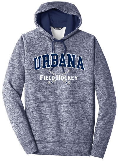 Urbana FIELD HOCKEY Hoodie Performance PosiCharge Electric Heather Fleece Pullover Sweatshirt Many Colors Available Sizes XS-4XL TRUE NAVY ELECTRIC