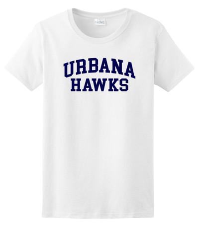 Urbana FIELD HOCKEY T-shirt Cotton LADIES Many Colors Available SZ XS-3XL WHITE