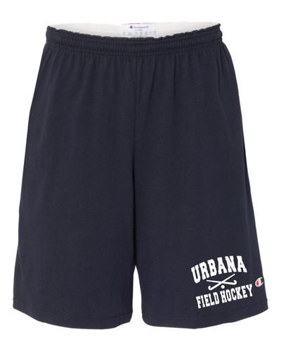 Urbana Hawks FIELD HOCKEY Shorts Cotton with Pockets CHAMPION Many Colors Available SIZE S-3XL NAVY