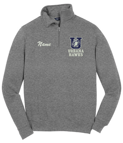 Urbana Hawks Qtr Zip FIELD HOCKEY Cotton Pullover Personalization Available Many Colors Available SIZES S-4XL VINTAGE HEATHER WITH NAME PERSONALIZED