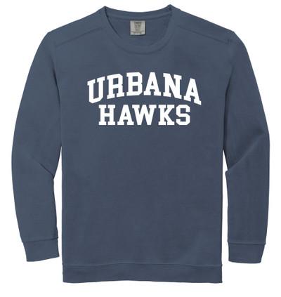 Urbana FIELD HOCKEY Cotton Crewneck COMFORT COLORS Sweatshirt Many Colors Available Size S-3XL DENIM