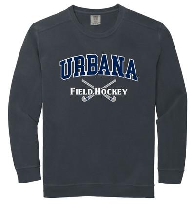 Urbana FIELD HOCKEY Cotton Crewneck COMFORT COLORS Sweatshirt Many Colors Available Size S-3XL PEPPER