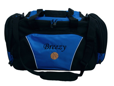 Basketball ROYAL BLUE DUFFEL Coach Team Mom Sports Font Style MONO CORSIVA