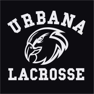 Urbana Hawks Eagle Head Lacrosse LAX Vinyl Decal Car Truck Mirror Wall
