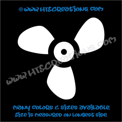 Boat Propeller Nautical Ocean Summer Vinyl Decal