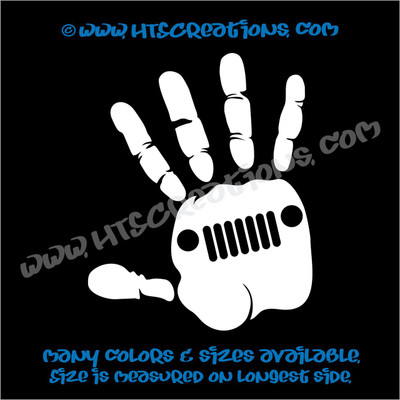 Jeep Girl Hand Off Road 4x4 Vinyl Decal