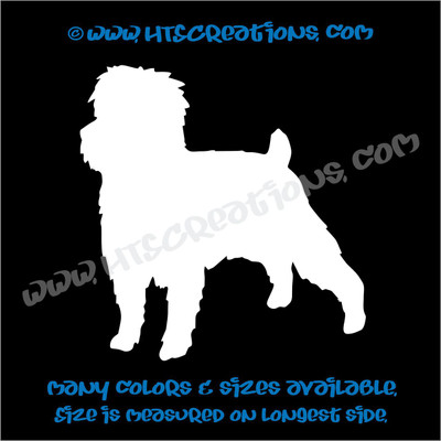 Dog Breed Affenpinscher Vinyl Decal Animal Lover Rescue Vet Pet Canine