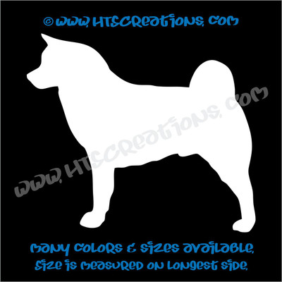 Dog Breed AKITA Vinyl Decal Sticker Animal Lover Rescue Canine