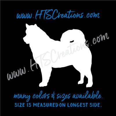 Dog Breed ALASKAN MALAMUTE Sled Snow Vinyl Decal Sticker Animal Lover Rescue Canine WHITE