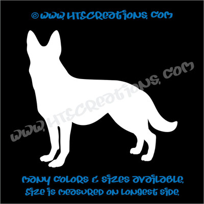 Dog Breed GERMAN SHEPHERD Vinyl Decal Sticker Animal Lover Rescue Canine K9 Police