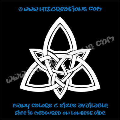 Celtic Trinity Knot Irish Dance Ireland Religious Church Grace Vinyl Decal WHITE