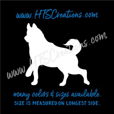 Dog Breed ALASKAN HUSKY Snow Sled Artic Vinyl Decal Animal Lover Rescue K9 Canine WHITE