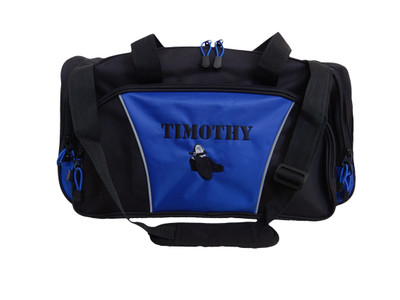 Irish Male Tap Clogging Shoes Irish Dance Jazz Personalized Embroidered ROYAL BLUE Duffel Font Style VARSITY