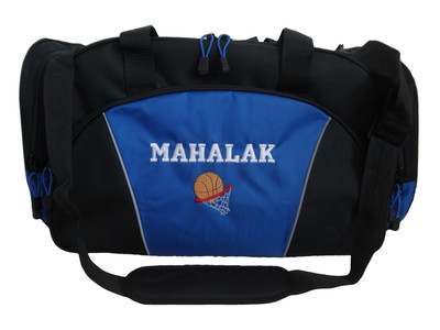 Basketball  Rim ROYAL BLUE DUFFEL Coach Team Mom Sports Font Style VARSITY