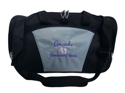 Baby Feet Doula Midwife Nurse NICU Pregnancy Mother Baby Mom Birthing Nurse Personalized Embroidered Duffel  Monte Carlo and Chicago