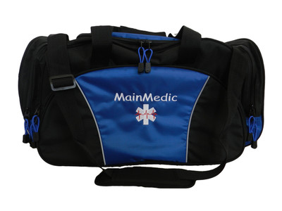 Star of Life EKG ROYAL BLUE DUFFEL Ambulance First Responder EMT EMS Paramedic Medic RN Emergency Hospital Font Style COMIC SANS