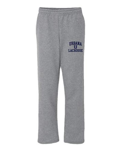 Urbana Hawks Sweatpants LACROSSE Cotton OPEN LEG YOUTH Many Colors Available SZ S-XL SPORTS GREY