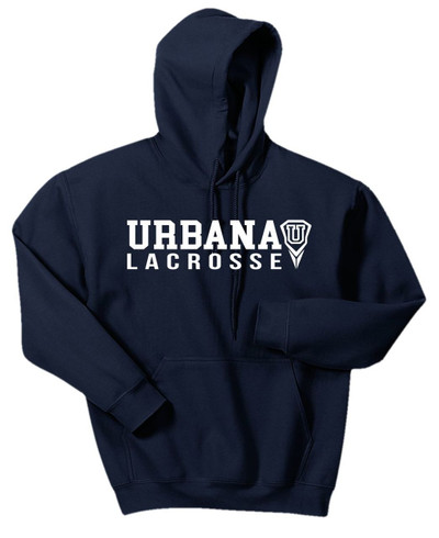 Urbana Hawks LACROSSE  Cotton Hoodie Sweatshirt Many Colors Available SZ S-3XL NAVY