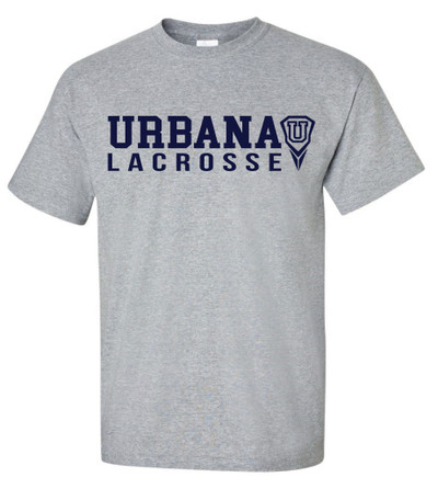 Urbana Hawks LACROSSE T-shirt Cotton Many Colors Available SZ S-4XL  SPORTS GREY