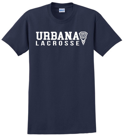 Urbana Hawks LACROSSE T-shirt Cotton Many Colors Available YOUTH SZ S-XL NAVY
