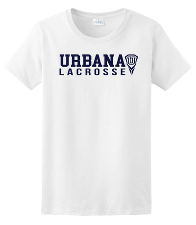 Urbana Hawks LACROSSE T-shirt Cotton Many Colors Available LADIES SZ S-3XL  WHITE