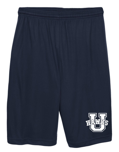 Urbana Hawks Shorts Performance with Pockets Many Colors Available SZ S-3XL NAVY