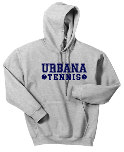 UHS Urbana Hawks TENNIS Cotton Hoodie Sweatshirt Many Colors Available SPORT GREY
