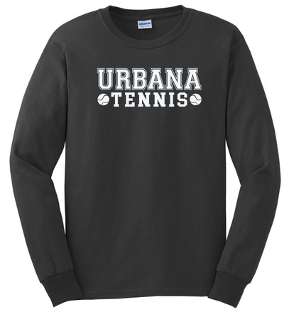 UHS Urbana Hawks TENNIS T-shirt Cotton LONG SLEEVE Many Colors Available CHARCOAL