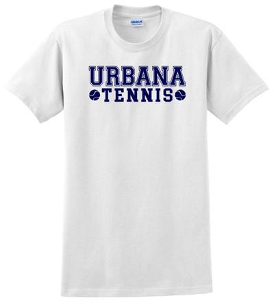 UHS Urbana Hawks TENNIS T-shirt Cotton LADIES Many Colors Available SZ XS-3XL WHITE