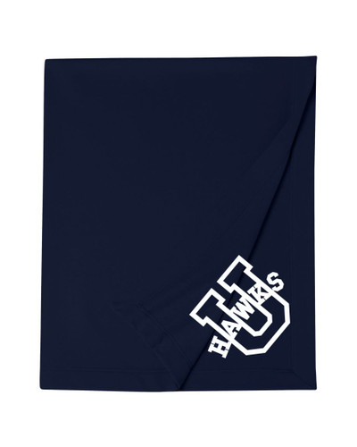 Urbana Hawks Cotton Sweatshirt Stadium Blanket 50x60 Many Colors Available  NAVY