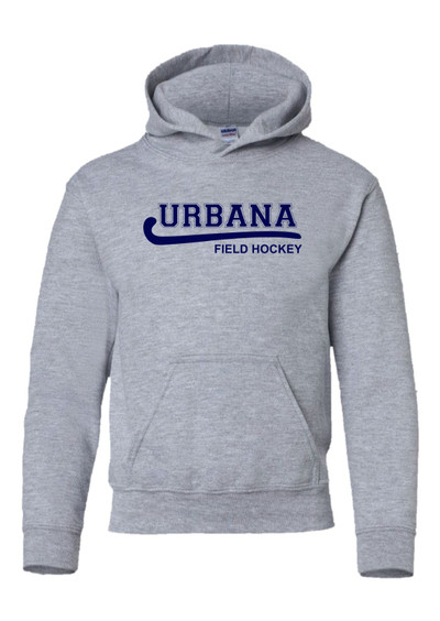 Urbana FIELD HOCKEY Cotton Hoodie Sweatshirt Many Colors Available YOUTH SZ S-XL  SPORTS GREY