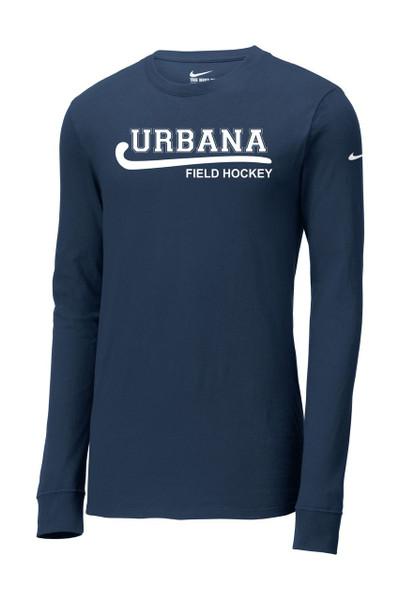 Urbana Hawks NIKE FIELD HOCKEY T-shirt LONG SLEEVE Cotton Many Colors Available NAVY