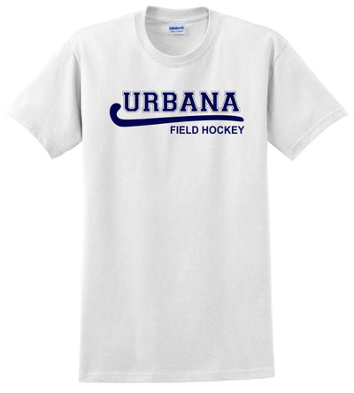 Urbana FIELD HOCKEY T-shirt Cotton LADIES Many Colors Available WHITE