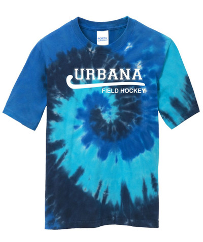 Urbana FIELD HOCKEY T-shirt Tie Dyed OCEAN RAINBOW YOUTH