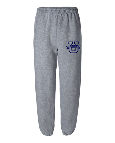 Urbana Hawks Sweatpants Cotton Elastic Cuff Bottom SPORT GREY