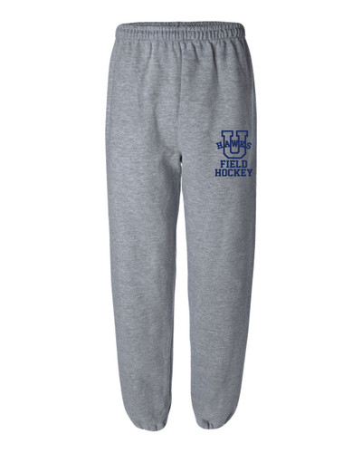 Urbana Sweatpants Cotton ELASTIC CUFF Bottom FIELD HOCKEY Many Colors Available YOUTH SZ S-XL SPORT GREY