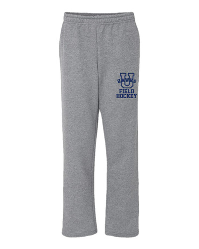 Urbana Sweatpants FIELD HOCKEY Cotton OPEN BOTTOM YOUTH Many Colors Available SZ S-XL Sports Grey
