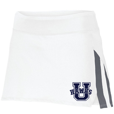 Urbana Hawks Skort Navy or White Colors Available LADIES  SZ S-2XL WHITE/GREY