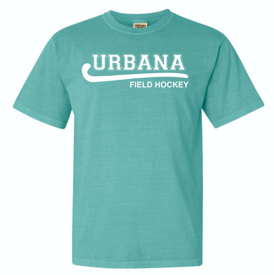 Urbana FIELD HOCKEY T-shirt Cotton COMFORT COLORS Many Colors Available SZ S-3XL SEAFOAM